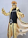 Inspirerad av Naruto Cosplay Animé Cosplay Kostymer/Dräkter cosplay Suits Lappverk Gul Lång ärm Kappa / Byxor