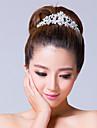 Bergkristal/Licht Metaal Vrouwen Helm Bruiloft/Speciale gelegenheden Tiara\'s Bruiloft/Speciale gelegenheden