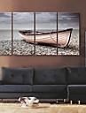 e-Home® sträckt arbetsytan konst stoppa fartyget shore dekorativt måleri uppsättning av 4