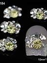 10st mix rhinestone grupp glitter diy legerings tillbehör nail art dekoration