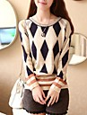 kvinners rund krage mote elegant strikkevarer genser