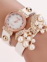 w&q tout le match elegant de faux diamant&perle montre de cercle