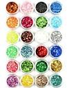 24pcs nail art poudre de paillettes nail art feuille poudre poudre arylic pour decoration d\'ongles