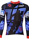 PALADIN® Cykeltröja Herr Lång ärm Cykel Andningsfunktion / Snabb tork / Ultraviolet Resistant Överdelar 100% Polyester TecknatVår /