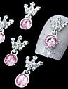 10pcs rose couronne pendentif en strass 3d accessoires en alliage de bricolage Nail Art Decoration