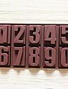 Numerele formă tort mucegai gheață jeleu de mucegai ciocolată, silicon 22 × 11,2 × 2 cm (8,7 × 4,4 × 0,8 inci)