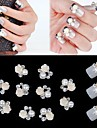 10pcs 3d fleur rose blanc perle strass accessoires de bricolage nail art decoration