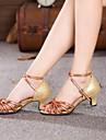 latin kvinnors sandaler kubansk häl ljusa satin dansskor (fler färger)
