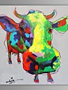 HANDMÅLAD Abstrakt / Djur En panel Kanvas Hang målad oljemålning For Hem-dekoration