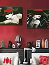 personnalise toile e-FOYER impression la femme 35x50cm 40x60cm 50x70cm encadree peinture sur toile ensemble de deux