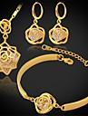 Set bijuterii Zirconiu Cubic Zirconiu Zirconiu Cubic Placat cu platină Placat Auriu Argintiu Auriu Seturi de bijuteriiNuntă Petrecere