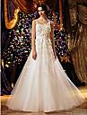 Lanting sposa una linea petite / piu dimensioni abito da sposa-pavimento-lunghezza tulle paletta