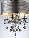 40W Contemporain Cristal Metal Lampe suspendue Salle de sejour