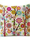 färgglad blomma träd bomull / linne dekorativa örngott