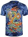 stâncă Walker mai recentă om design vestimentar cu maneci scurte dragon animal bumbac imprimat 3d t-shirt