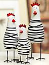 en uppsättning av 3 nyhet påsk målade kyckling familj, trä