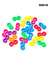 24pcs arc en ciel colore couleur metier crochet