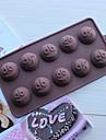 10 trous de moules a chocolat gateau expressions de forme de la glace gelee, silicone 15 × 14,5 × 1,5 cm (6,0 × 5,8 × 0,6 pouces)