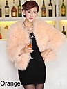 Long Sleeve Collarless Ostrich Fur Party/Casual Jacket(More Colors)