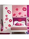 väggdekorationer väggdekaler, stil röda läppar pvc vägg klistermärken