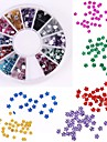 600pcs 12 couleur en forme de prune diamant nail art decoration