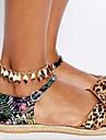 alliage decoratifs accents de cheville de la chaine de feuilles pour les chaussures une pcs