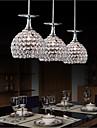 singel tre lys vin cup utforming moderne krystall ledet anheng lys restaurant lampe bar droplight