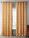 (Deux panneaux) etoiles orange iteratives motif rideau