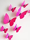 stickers muraux stickers muraux, 12pcs / lot 3d pvc magnetique Autocollant rose papillon maison stickers muraux autocollants bricolage.