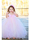 Trapezio - Senza Spalline - A Terra - Flower Girl Dress