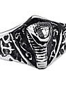 cadou personalizat de bijuterii din oțel inoxidabil la modă gravate inel barbati