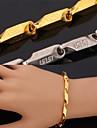 plaque or 18k morceaux de fantaisie vintages fraiches hommes inoxydable 316L chaine a maillons de bracelet en acier pour les hommes des femmes de