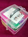 doudouwo® diy twistz bandz gummi armband kit rainbow vävstol stil för barn 3-lagers kostym