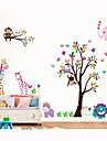 miljö avtagbar färgrik tecknad träd mönster pvc klistermärke