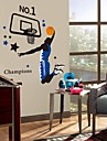 joueur de basket de l\'environnement sticker mural PVC