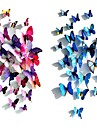 Wedding Décor  Decoration Plastic Magnet Butterfly with Foam Stickers 12 Pieces PVC/Plastic