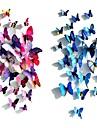 Wedding Décor  Decoration Plastic Magnet Butterfly with Foam Stickers 12 Pieces PVC/Plastic