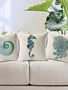 3 pcs Coton/Lin Housse de coussin,Imprime animal Moderne/Contemporain
