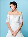 casamento envolve casacos / jaquetas a noite tule branco / bege encolher de ombros bolero