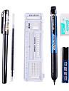 skriva uppsättningar för undersökningar (linjal, gel penna, blyertspenna, suddgummi, kassett)