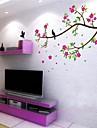 miljöflyttfåglar och blossom pvc väggklistermärke