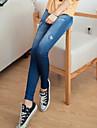 Women\'s Fashion Star Printing Spandex Thin Jean Legging