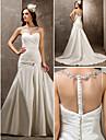 Lanting Bride® Fit & Flare Petite / Plus Sizes Wedding Dress - Elegant & Luxurious / Glamorous & Dramatic Sweep / Brush Train Sweetheart