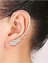 Cătușe pentru urechi Pietrele Lunilor Ștras Aliaj Aripi / Pene Argintiu Auriu Bijuterii Pentru Nuntă Petrecere Zilnic Casual 1 buc