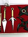 Vapen Inspirerad av Naruto Cosplay Animé Cosplay Accessoarer Vapen Svart / Guld Legering Man / Kvinna