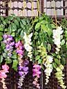 1Pc 3 Gren Silke / Plast Orkidéer Bordsblomma Konstgjorda blommor #(74*20*2 cm(29.1*7.9*0.8 in))