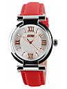SKMEI pentru Doamne Ceas Elegant Ceas La Modă Ceas de Mână Ceas Casual Quartz Quartz Japonez Iluminat Piele Bandă CasualNegru Alb