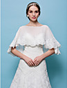 Wedding  Wraps Capelets Tulle White/Beige