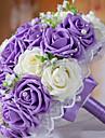 Une succursale Mousse de polystyrene Roses Fleur de Table Fleurs artificielles 25 x 25 x 30(9.84\'\' x 9.84\'\' x 11.81\'\')