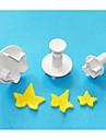 fyra c murgröna blad plast fondant kaka Utsmyckning kolv cutter, klassiska fondant verktyg, tårta verktyg